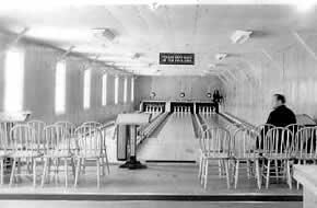 Original bowling alley, 1948